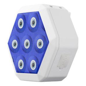 Good Luck Charms against Evil Eye Pattern White Bluetooth Speaker