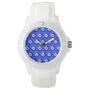 Good Luck Charms against Evil Eye Pattern Wrist Watch