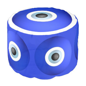 Good Luck Charms against Evil Eye Pouf