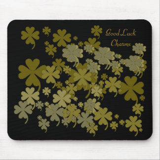 Good Luck Charms Antique Gold Mousepad by Janz