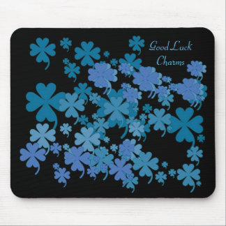 Good Luck Charms Blue Mousepad by Janz