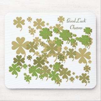 Good Luck Charms Green Mousepad by Janz