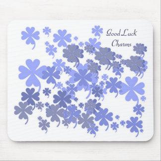 Good Luck Charms Powder Blue Mousepad by Janz