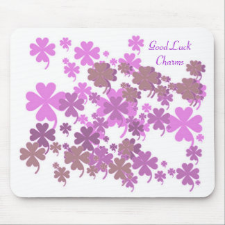 Good Luck Charms Purple Mousepad by Janz