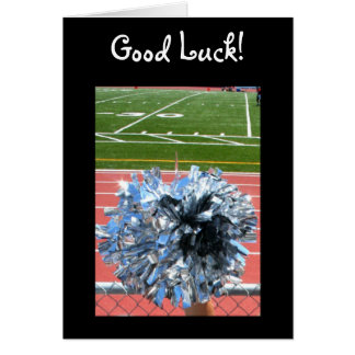 Good Luck cheer pom pom greeting card