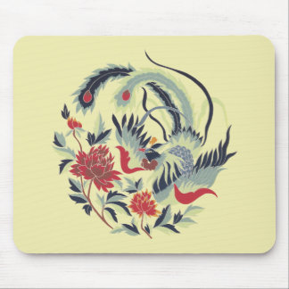 Good Luck Chinese Pheasant Art Mouse Pad