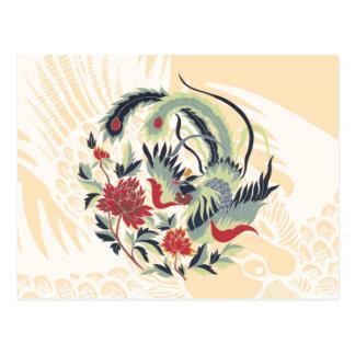 Good Luck Chinese Pheasant Art Post Card
