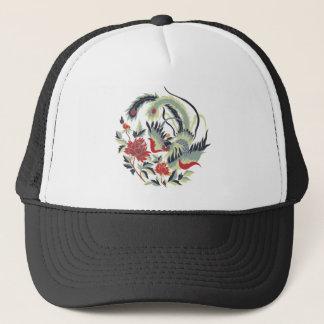 Good Luck Chinese Pheasant Art Trucker Hat