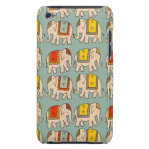 Good luck circus elephants cute elephant pattern barely there iPod case