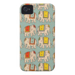 Good luck circus elephants cute elephant pattern Case-Mate iPhone 4 case