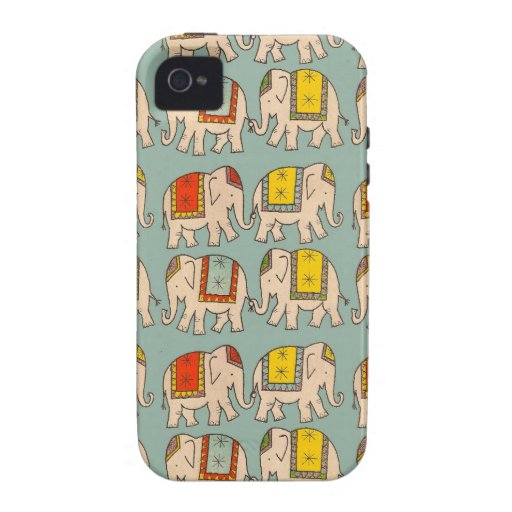 Good luck circus elephants cute elephant pattern Case-Mate iPhone 4 covers