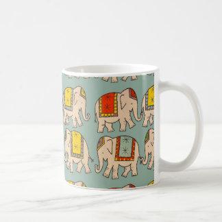 Good luck circus elephants cute elephant pattern coffee mug