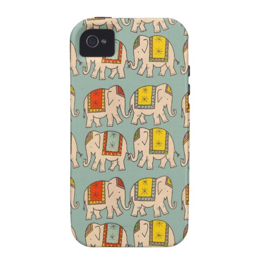 Good luck circus elephants cute elephant pattern iPhone 4/4S cover
