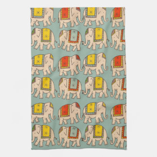 Good luck circus elephants cute elephant pattern kitchen towel