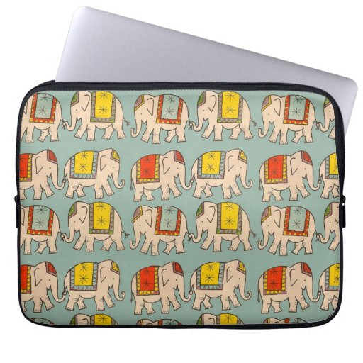 Good luck circus elephants cute elephant pattern laptop computer sleeves