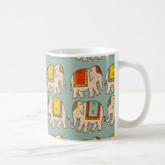 Good luck circus elephants cute elephant pattern classic white coffee mug