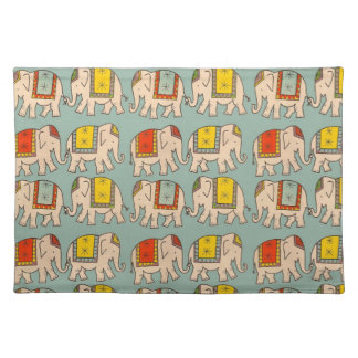 Good luck circus elephants cute elephant pattern placemat