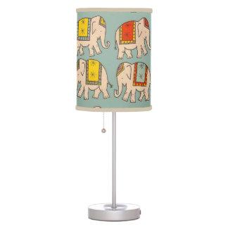 Good luck circus elephants cute elephant pattern table lamp