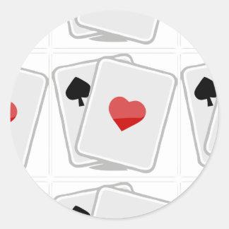 Good luck classic round sticker