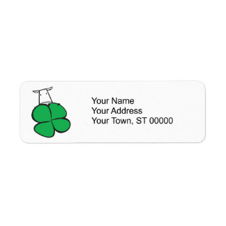 Good Luck Clover Cow Label