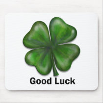Good Luck Clover Mouse Pad