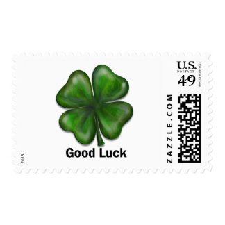 Good Luck Clover Postage Stamp