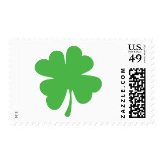Good Luck Cloverleaf - Shamrock - trefoil Postage Stamp