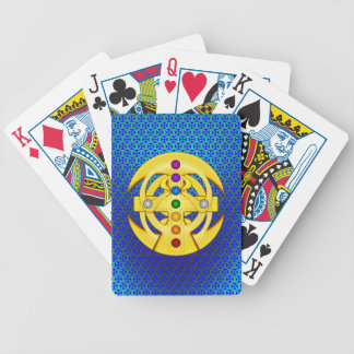 Good Luck Coptic Styled Cross Bicycle Playing Cards
