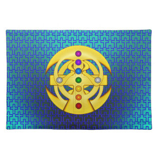 Good Luck Coptic Styled Cross Cloth Placemat