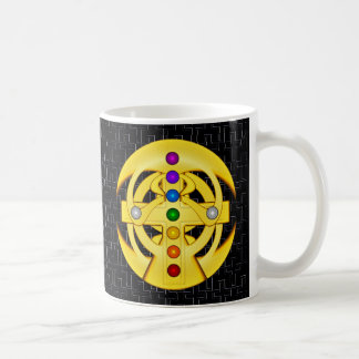 Good Luck Coptic Styled Cross Coffee Mug