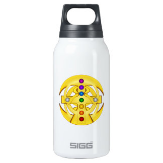 Good Luck Coptic Styled Cross Insulated Water Bottle