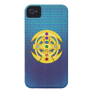 Good Luck Coptic Styled Cross iPhone 4 Case-Mate Case