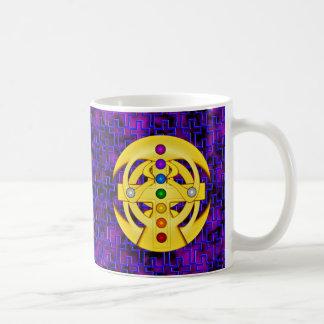 Good Luck Coptic Styled Cross Classic White Coffee Mug