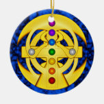 Good Luck Coptic Styled Cross Christmas Tree Ornaments