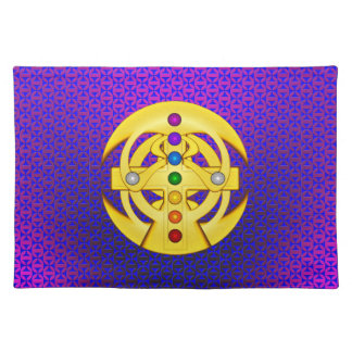 Good Luck Coptic Styled Cross Placemat