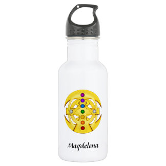 Good Luck Coptic Styled Cross Stainless Steel Water Bottle