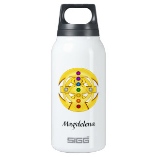 Good Luck Coptic Styled Cross Thermos Water Bottle