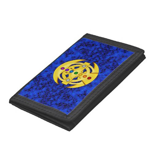 Good Luck Coptic Styled Cross Trifold Wallets