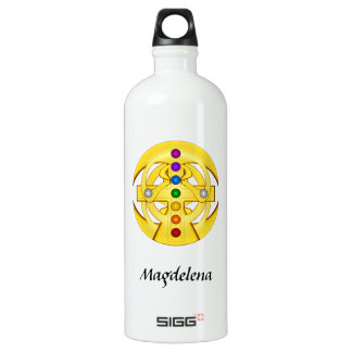 Good Luck Coptic Styled Cross Water Bottle