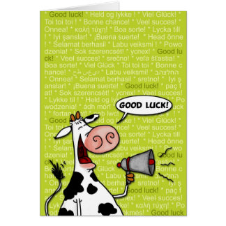 good luck cow card