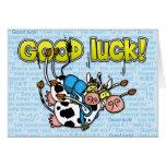 good luck - cows skydive tandem greeting card