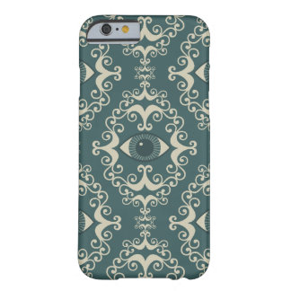 Good luck damask evil eye teal hipster pattern barely there iPhone 6 case