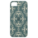 Good luck damask evil eye teal hipster pattern iPhone 5 cover