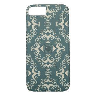Good luck damask evil eye teal hipster pattern iPhone 8/7 case