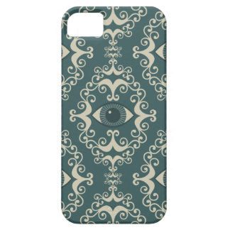 Good luck damask evil eye teal hipster pattern iPhone SE/5/5s case