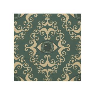 Good luck damask evil eye teal hipster pattern ojo wood wall decor