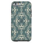 Good luck damask evil eye teal hipster pattern tough iPhone 6 case