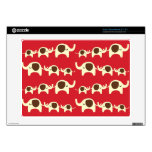 Good luck elephants cherry red cute nature pattern acer chromebook skin