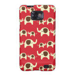 Good luck elephants cherry red cute nature pattern samsung galaxy SII case