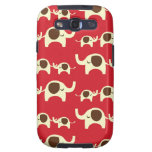 Good luck elephants cherry red cute nature pattern galaxy s3 cover